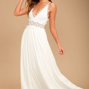 Lulus this is love lace maxi dress
